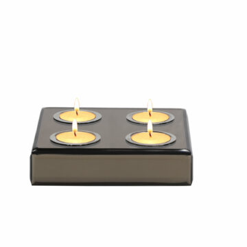 Square Set/4 Rose Gold Mirror T light Holder
